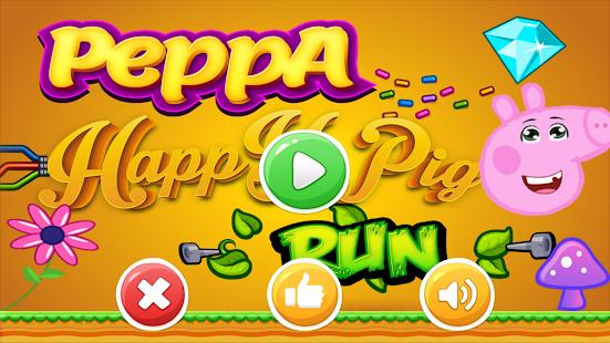 pepa happy pig run - náhled