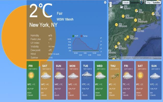 Weather Chrome Web Store - Us weather forecast map 10 days