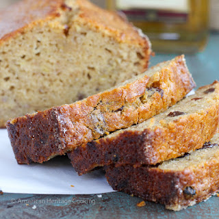 Brown Butter Rum Raisin Banana Bread
