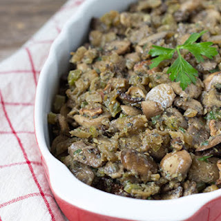 Eggplant and Wild Mushroom Stuffing