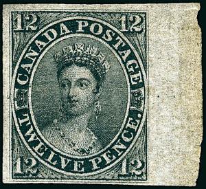 Canada 12 pence noir