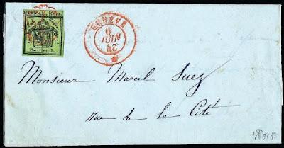 Canton de Genève, 5 centimes droit