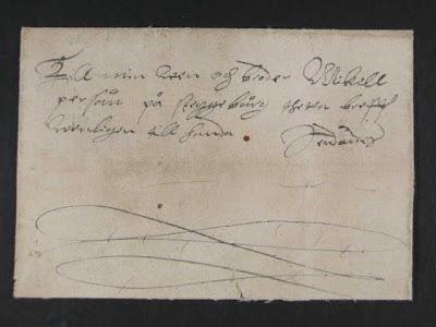 Une lettre de 1567 en provenance de Stockholm