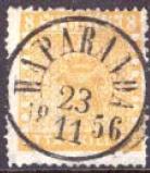 Suède, Facit n° 4c jaune citron