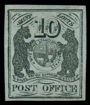 Deux ours sur ce timbre de 1845