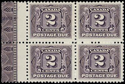 Canada Postage Due lathework