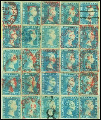 Vingt-cinq timbres d'Espagne
