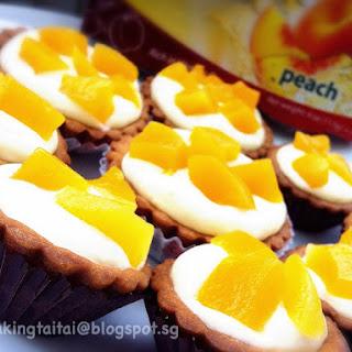 Peach Cheese Tart 蜜桃芝士挞