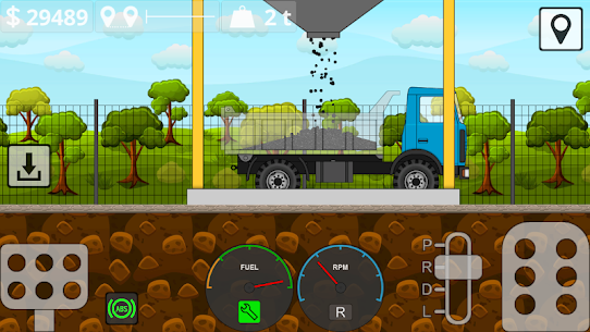 Mini Trucker 2D offroad truck simulator MOD (Unlimited Money) 3