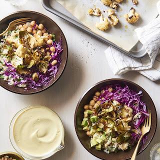 Vegan Abundance Bowl with Curried Cashew Sauce.