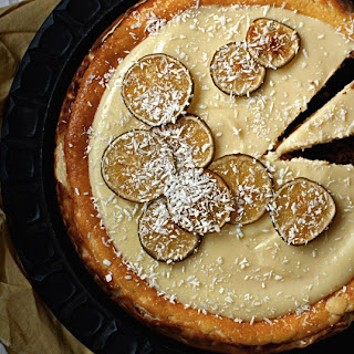 Thai coconut cheesecake with lemon grass and Kaffir lime leaves