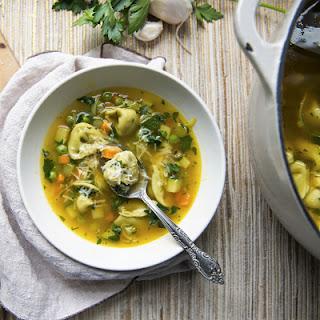 Vegetable Tortellini Soup.