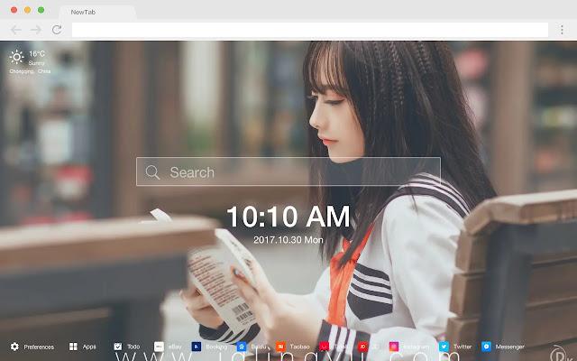 Eye-catching beauty new tab theme
