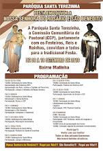 Cartaz Festa em Louvor a Nossa Senhora do Rosário e São Benedito