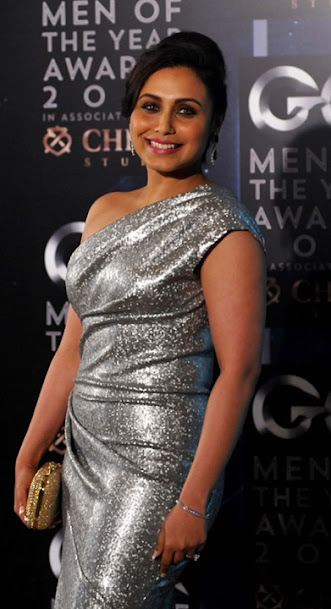 Rani Mukerji in silver dress, Rani Mukerji at GQ man of the year awards show