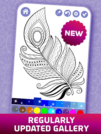 Relaxing Adult Coloring Book apkpoly screenshots 5