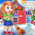 Christmas House Cleaning Time- Girls home Cleaupup icon