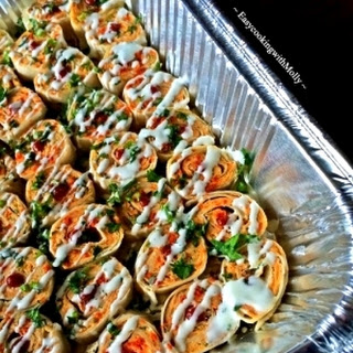 Spicy Sweet-Potato and Chicken Roll-Ups