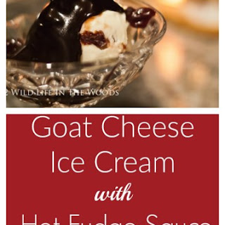 Goat Cheese Ice Cream with Hot Fudge Sauce and Boozy Cherries