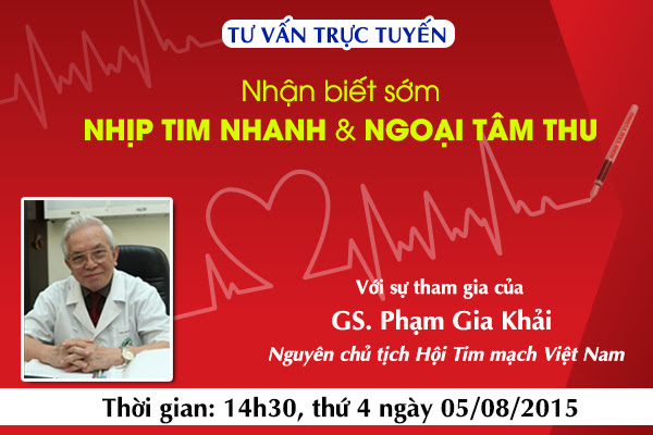 Cơ hội được tư vấn miễn phí về bệnh rối loạn nhịp tim cùng với chuyên gia