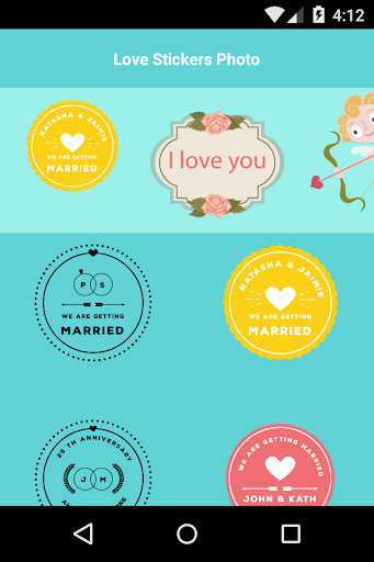 Love Stickers Photos
