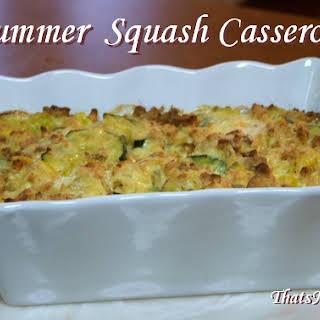 Summer Squash Casserole.