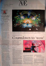 Photo: Chicago Tribune Arts and Entertainment section 1st page large photo of my commission for the Adler Planetarium.