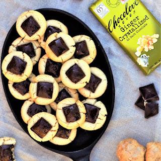 Dark Chocolate Ginger Thumbprint Cookies.