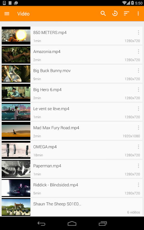 VLC for Android screenshots