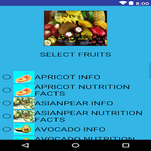 Fruit Info - náhled