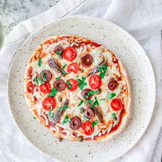 Mini Puttanesca Pizzas.