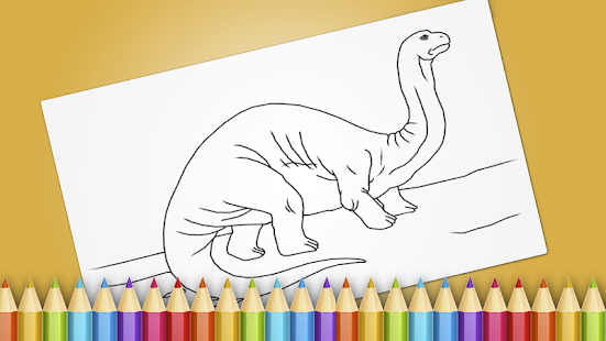 Dinosaurs Coloring Book Game Screenshot Thumbnail