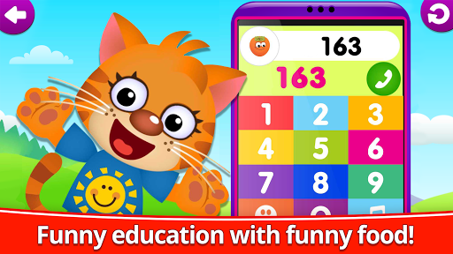 Funny Food 123! Kids Number Games for Toddlers apkpoly screenshots 4