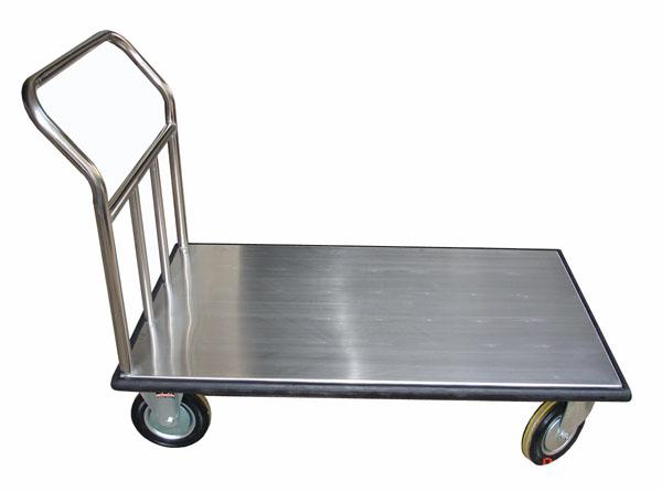 Xe đẩy hàng 1 tầng 02 chất liệu inox 304, bánh xe cao su đặc chịu tải trọng tốt
