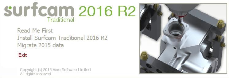 """Нажмите кнопку """"Установить SURFCAM Traditional 2016 R2"""""""