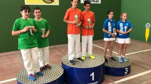 El CP Almería, campeón alevín e infantil en Frontenis Preolímpico