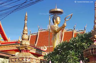 Photo: Colourful modern Buddhist temple Vientiane