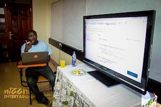 Photo: Arlus Ishmael taking us through Google App Engine