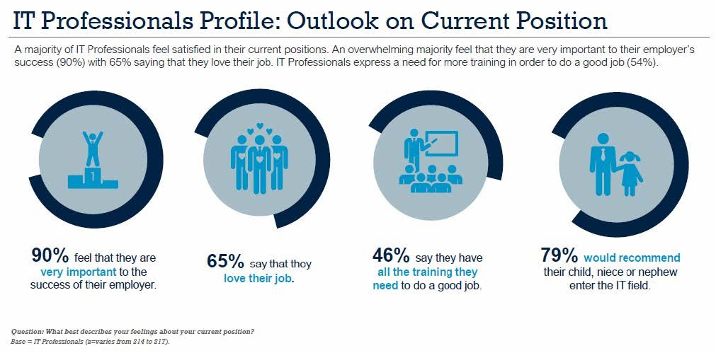 IT Professionals Profile: Outlook on Current Position. Source: Informa Engage