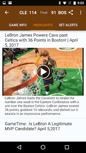 Sports Alerts - NBA edition 2.7.2 screenshots 7