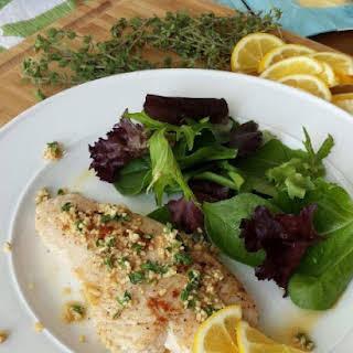 Turkey Tenderloin with Fresh Lemon-Thyme Sauce.