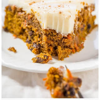 The Best Pumpkin Carrot Cake.
