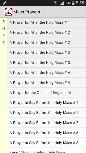 Mass Prayers