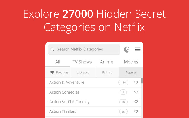 All Netflix Categories