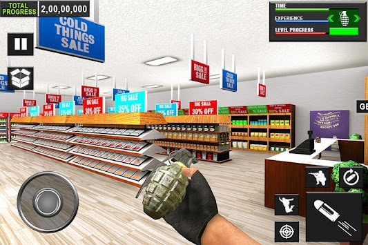 Destroy Office Supermarket Bank Smash FPS Shooter apk screenshot