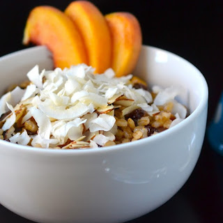 Coconut Peach Barley Breakfast Bowl