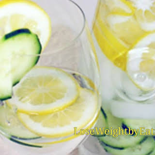 Cucumber Lemon Water.