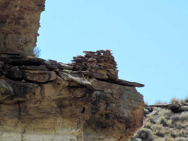 Close-up of the ruin