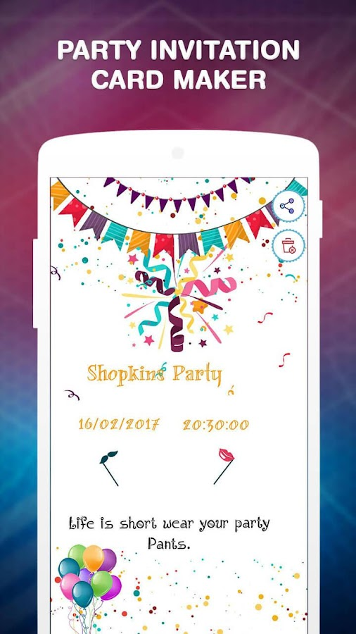 Party invitation card maker android apps on google play party invitation card maker screenshot stopboris Choice Image