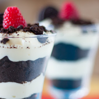 Cookies and Cream Raspberry Parfait